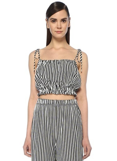 Mds Stripes Bluz Siyah